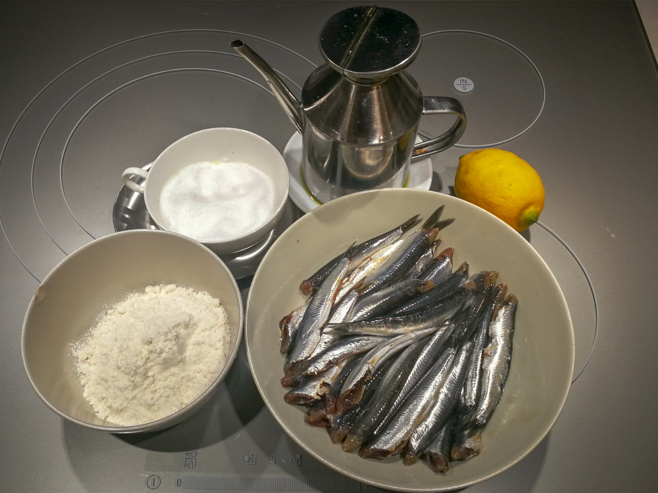 Ingredientes boquerones horno